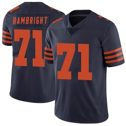 Arlington Hambright Chicago Bears No.71 Limited Alternate Vapor Untouchable Jersey - Navy Blue
