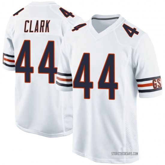 Darion Clark Chicago Bears No.44 Game Jersey - White