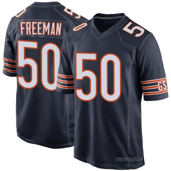 Jerrell Freeman Chicago Bears No.50 Game Team Color Jersey - Navy